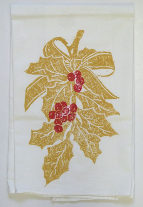 holly gold towel
