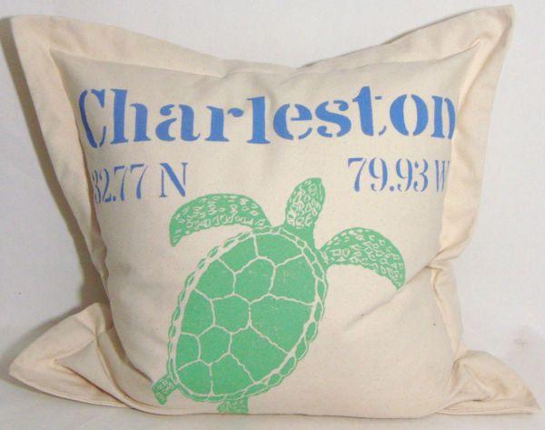 large sea turtle pillow