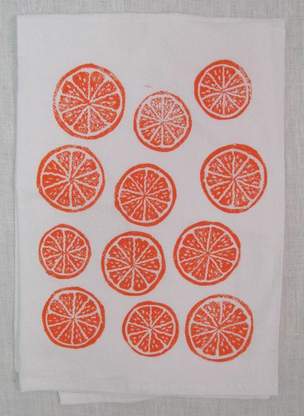 oranges towel