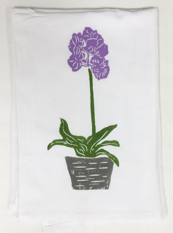 orchid plant towel