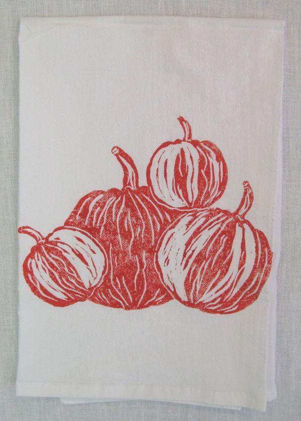pumpkin patch towel