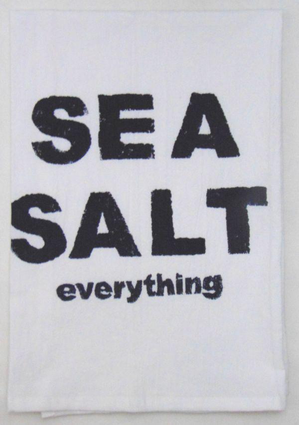 sea salt towel
