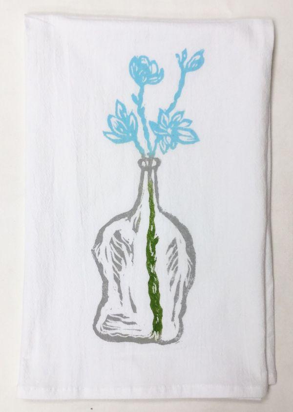 wildflowers towel