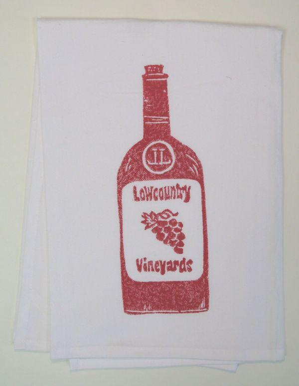 wine bottle towel