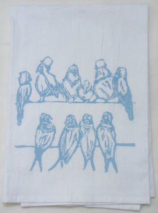 wire birds towel