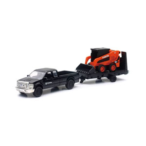 SSV65 Skidsteer With Chevy Truck And Trailer