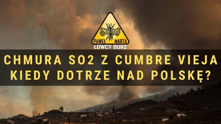 Cumbre Vieja – Chmura SO2 z erupcji wulkanu dotarła nad Polskę