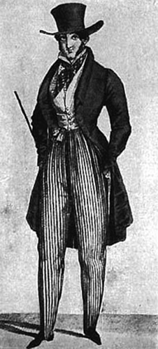 """from """"Journal des Dames,"""" May 1823. http://www.costumes.org/pages/regentfashplates.htm"""