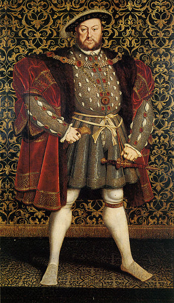 """""""Portrait of Henry VIII of England"""" by Hans Eworth, after Hans Holbein the Younger, Chatsworth House. 1560-73"""
