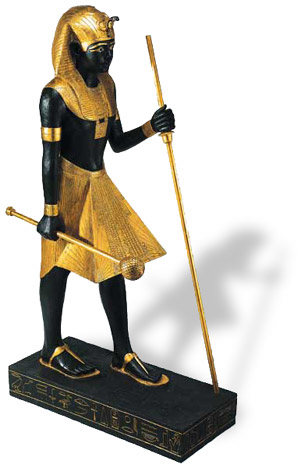 Egyptian Guardian 4Ft. Statue from King Tut's Tomb Egyptian Guardian 4Ft. Statue It was found in the Antechamber, during the excavation of King Tut's Tomb in 1922 by the Earl of Carnarvon and Howard Carter.