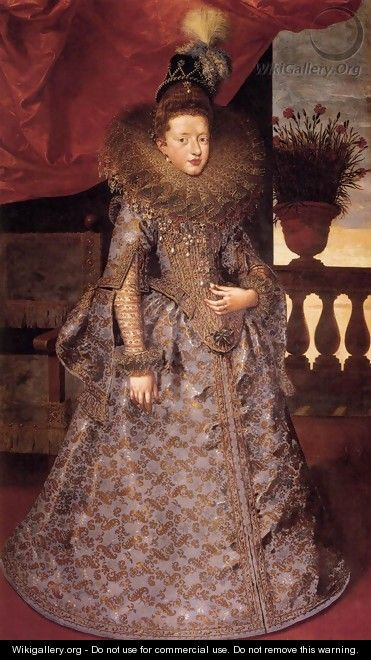 Portrait of Margherita Gonzaga by Frans, the younger Pourbus. 1604-5. www.wikigallery.com