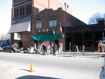 TSOT film crew sets up to shoot inside The Dubliner