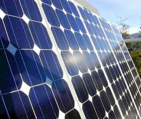 Solar panels at work!