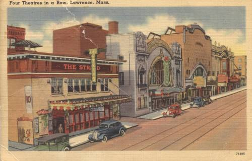A shot from the other side of Theater Row in Lawrence, ca. 1941