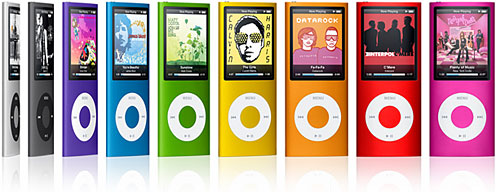 4G iPod nano in nine colors