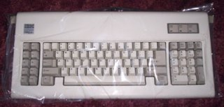 IBM Model F keyboard in plastic bag