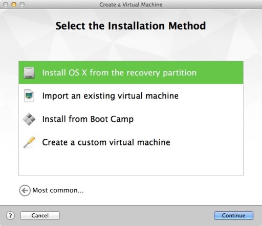 Fusion New Virtual Machine 2
