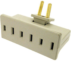 3-way AC plug splitter