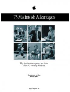 75 Mac Advantages brochure