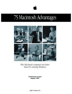 75 Mac Advantages brochure