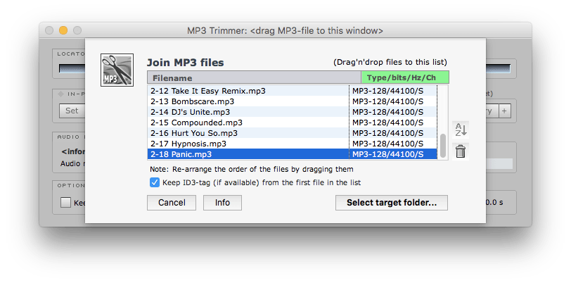 join mp3 files together mac
