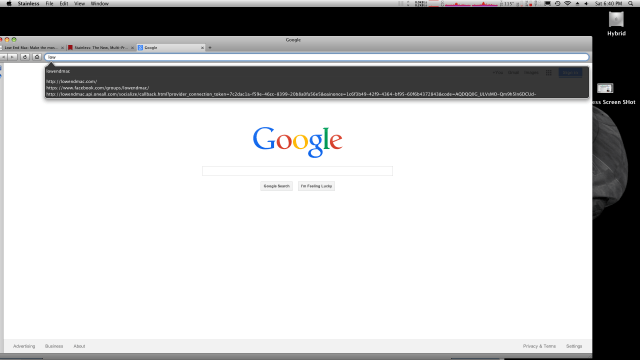Searching from address bar.
