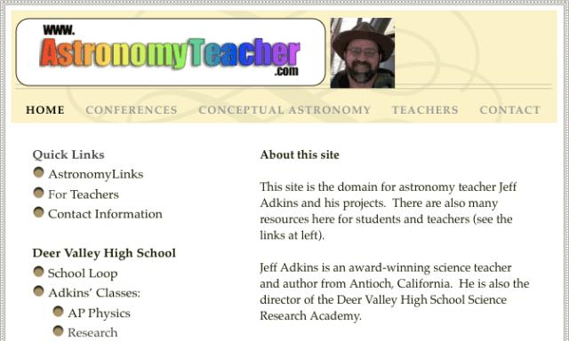 astronomyteacher dot com