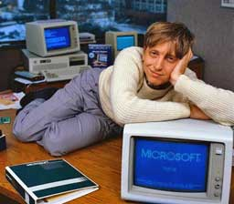 Bill Gates with IBM PC