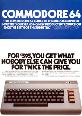 Commodore 64 sales brochure