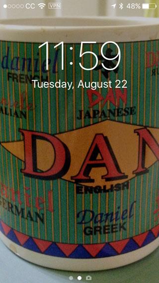 iPhone 5 screen shot