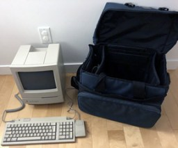 Classic II in computer bag