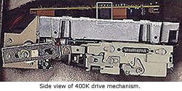 Side view of 400K drive mechanism