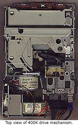 Top view of Mac floppy drive
