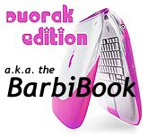 Dvorak Edition pink iBook - the BarbiBook