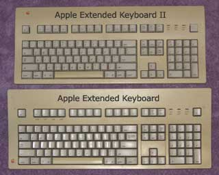 Apple Extended Keyboard and Extended Keyboard II