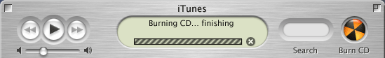 iTunes finishing your new CD