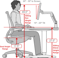 "Human Solution recommended desk for someone 5'11"" tall."