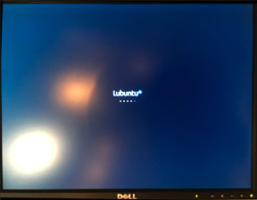 Lubuntu splash screen on Power Mac G5