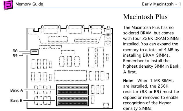 Mac Plus memory upgrade