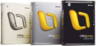 Microsoft Office Mac v. X