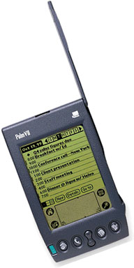 Palm VII with its wireless antenna