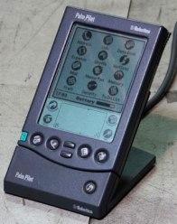 PalmPilot Pro in its cradle