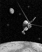 1-bit Voyager image created in MacPaint