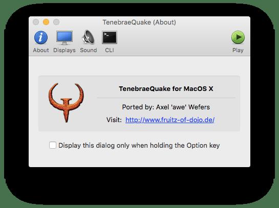 TenebraeQuake, an Enhanced Quake Front End | Low End Mac