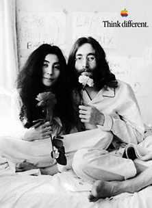 Think Different poster, John Lennon and Yoko Ono