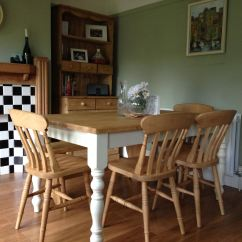 Farmhouse Tables And Chairs Antique Rocking For Sale Wooden Table Pinefurniturecornwall Co Uk