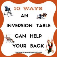 Inversion Tables For Back Pain - Chronic Pain Relief