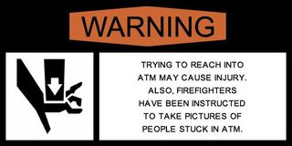 ATM pictures warning