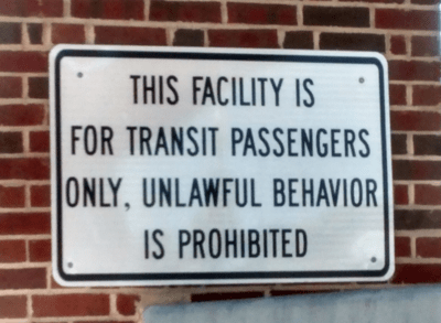 Unlawful Behavior Prohibited