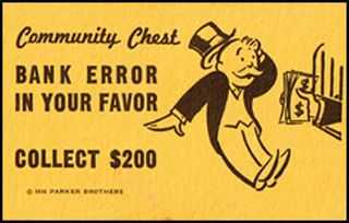Monopoly bank error card